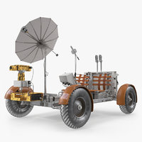 3D lunar roving vehicle apollo model