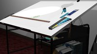 3D model drafting table accessories