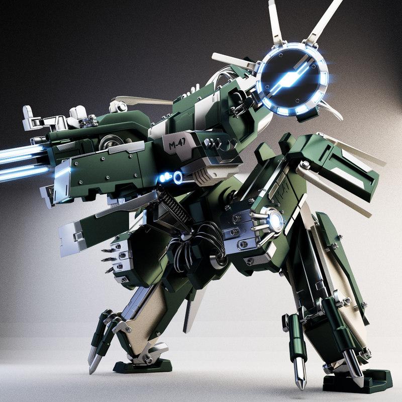 Metal Gear Rex Robot 3D