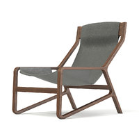3D wood leather chair model