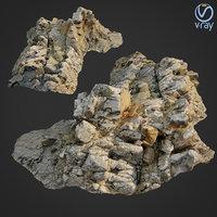 3D scanned rock cliff o