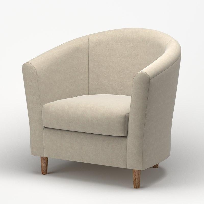 chair fabric armchair 3D model