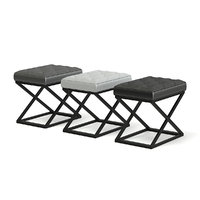 3D leather stools