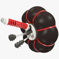 terrain vehicle suspension 3D model