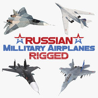 3D rigged russian millitary airplanes model