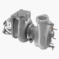 Car Turbo Turbine Turbocharger 3D Model