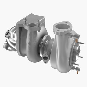 3D car turbo turbine turbocharger