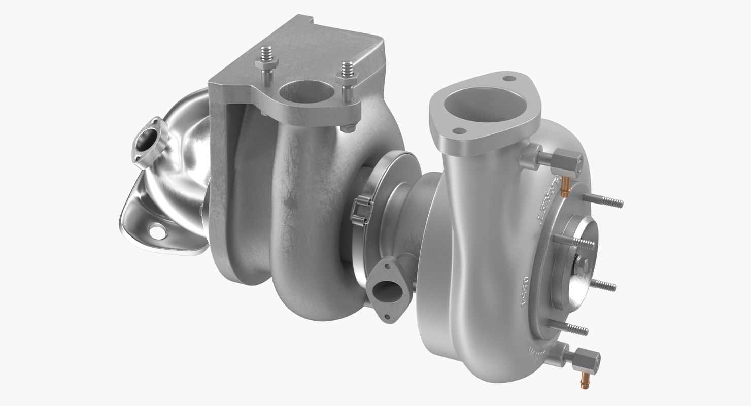 3D car turbo turbine turbocharger