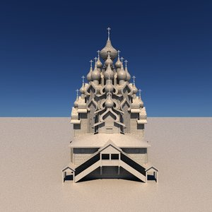 wooden church transfiguration 3D