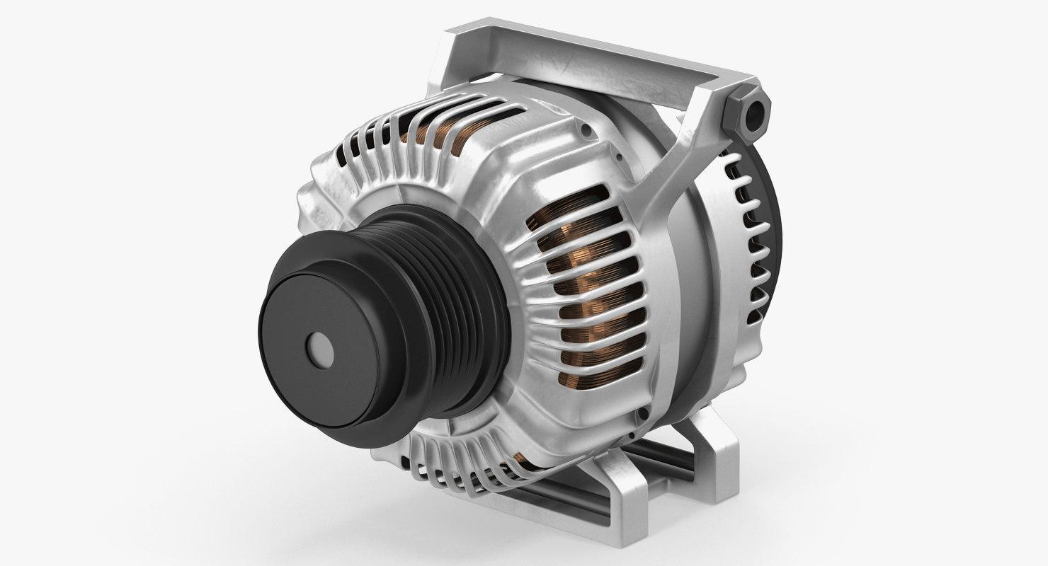 3D car alternator