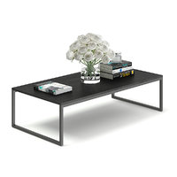 3D black coffee table model