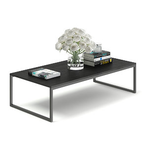 3D black coffee table model