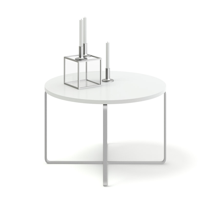 white coffee table candles 3D