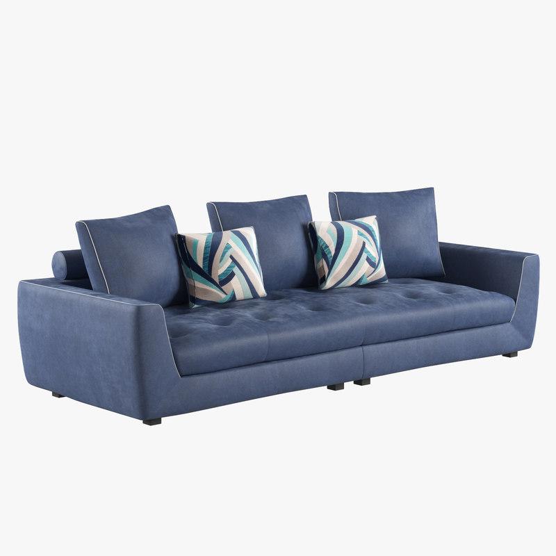 3D uptown large sofa interior