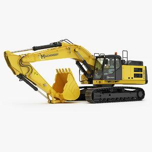 3D excavator tracked generic v2