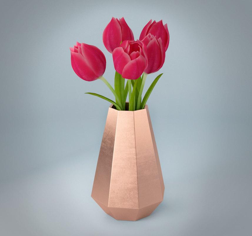 tulips vase model