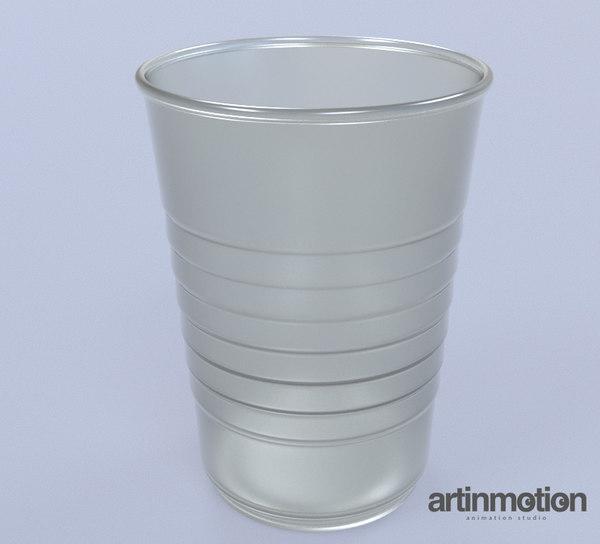 plastic cup 3D model