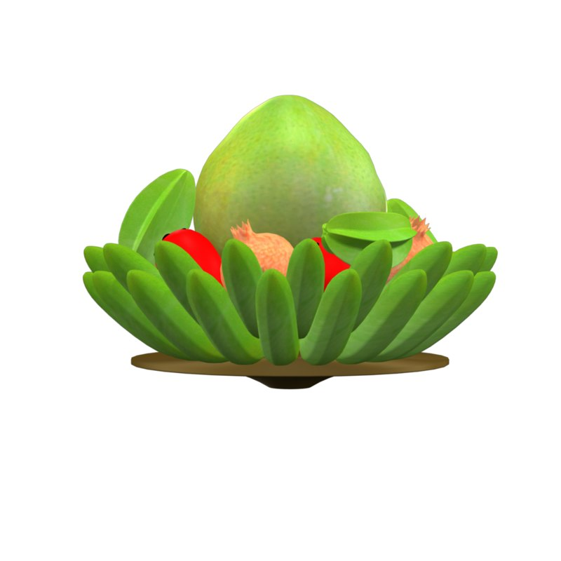 fruit tray 3D model