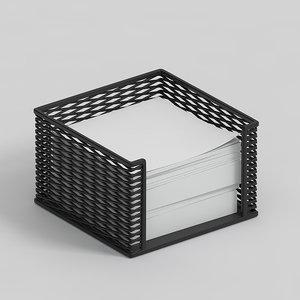 pile paper holder 3D model