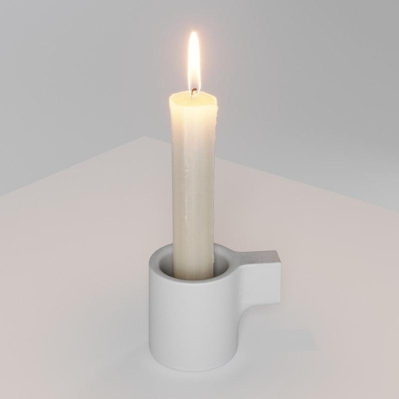 3D candle ypperlig tealight holder model