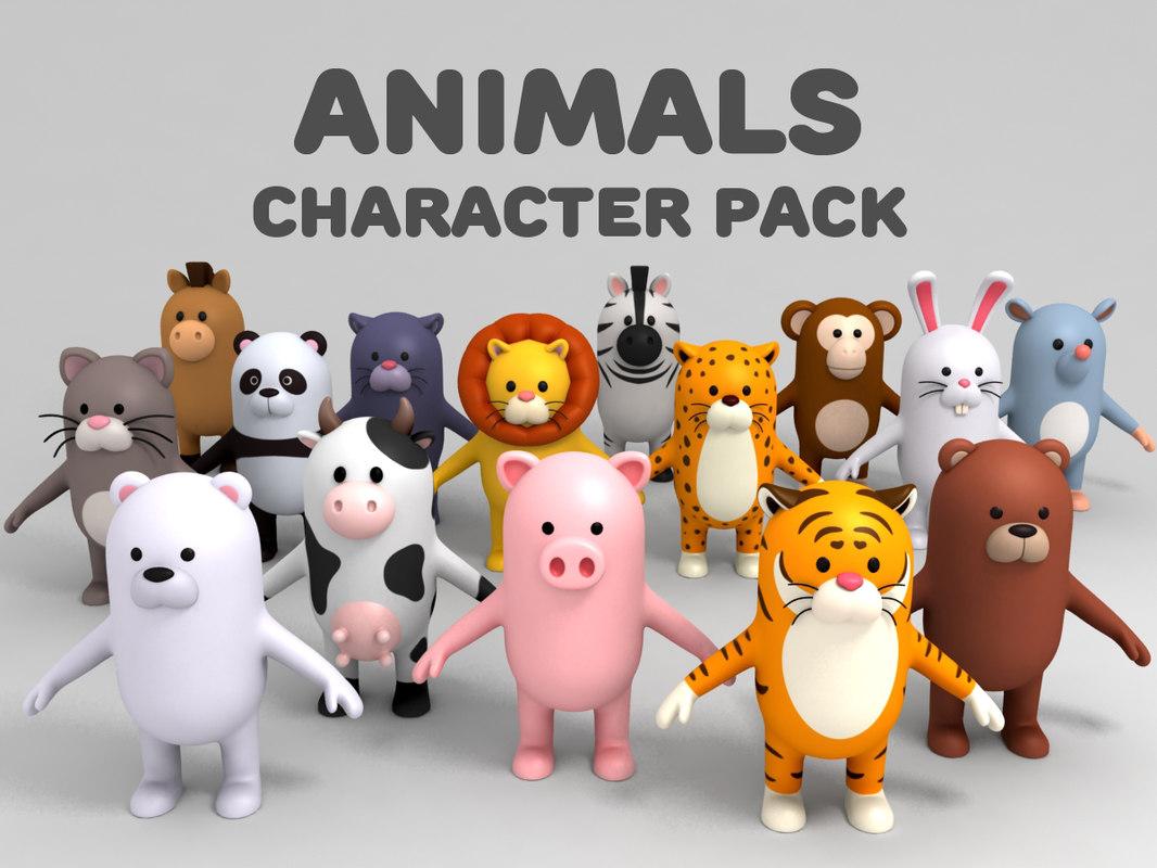 3D cartoon animal pack