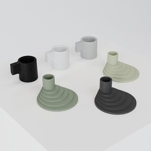 ypperlig ikea candle holder 3D