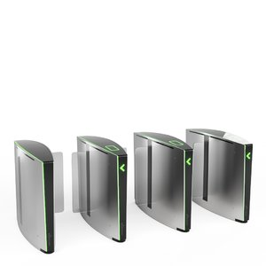 3D speedlane slide turnstiles model