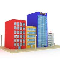 cartoon toon street 3D model