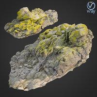 3D model scanned rock cliff p