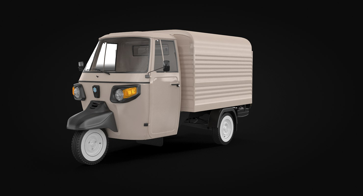 3d piaggio ape classic van turbosquid 1269570. Black Bedroom Furniture Sets. Home Design Ideas