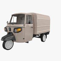 3D piaggio ape classic van