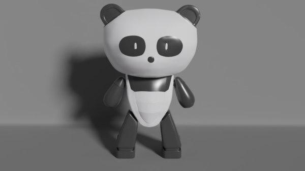 3D panda bear guy