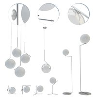 flos ic lights set 3D