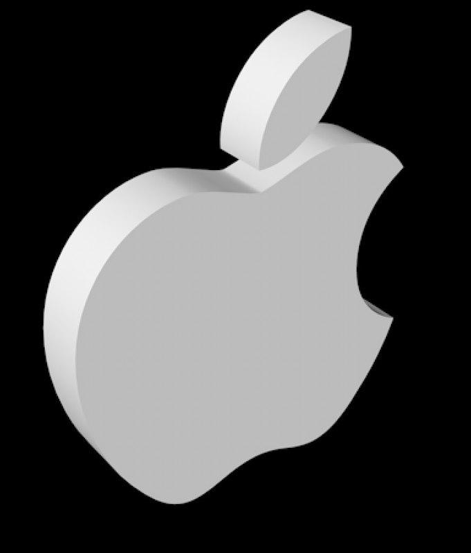 apple logo 3D model