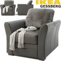 3D ikea gessberg armchair model