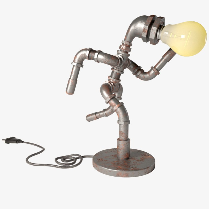 3D pipe lamp lights