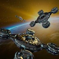 spaceship centered blender 3D model