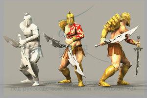 3D model gladiator