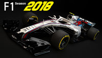 f1 williams fw41 2018 3D model