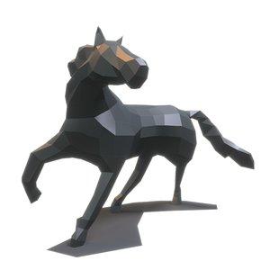 paper horse 3D