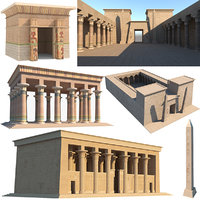 3D model egyptian temples