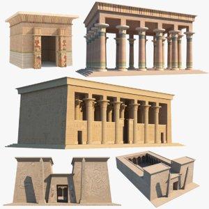 3D model egyptian temples
