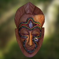 3D african tribal mask scanned