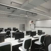 Detail Photorealistic Computer Laboratory Classroom Contemporary Interior Scene V6
