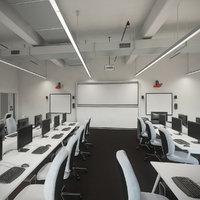 Detail Photorealistic Computer Laboratory Classroom Contemporary Interior Scene V7