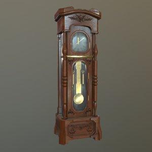 3D grandfathers clock model