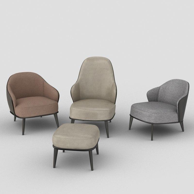 3D model leslie armchair
