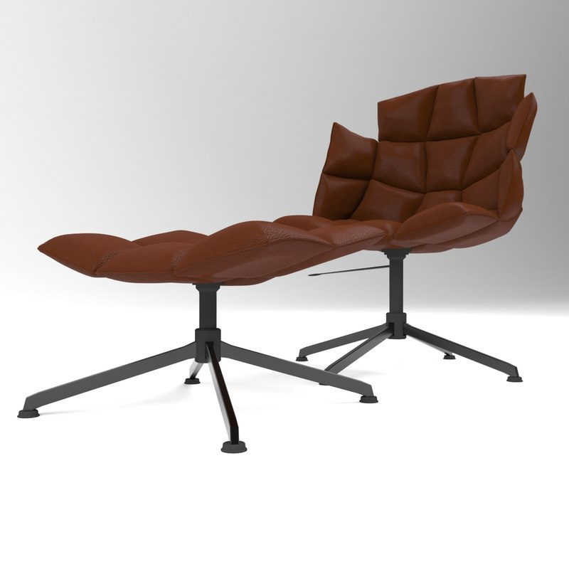 3D swivel chair puff model