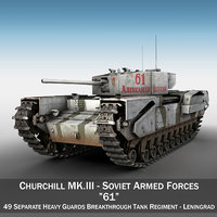 3D british churchill mk iii model
