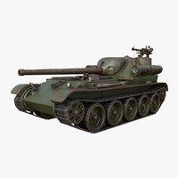 tank uralmash su 101 3D model